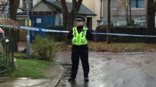 Police cordon in Bradford