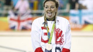 Katy Marchant with bronze medal
