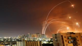 Israeli air defence intercepts rockets fired from Gaza