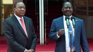 Aarẹ Uhuru Kenyatta ati Raila Odinga
