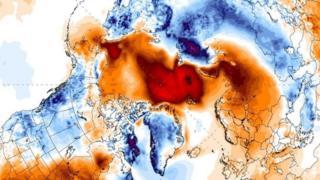 शनिबार उत्तरी ध्रुबको तापक्रम