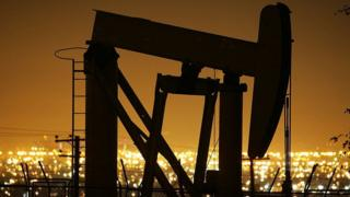 Pumps draw petroleum from oil wells
