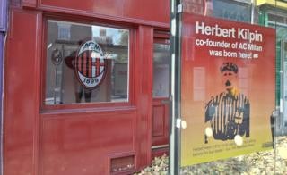 Herbert Kilpin shop and bus stop