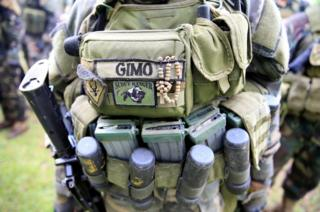 Soldado del gobierno en Filipinas