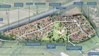Plans for the 398 homes near Emersons Green