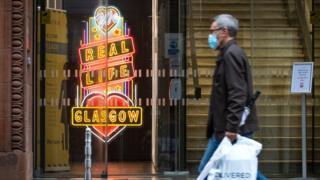 Man walking in Glasgow