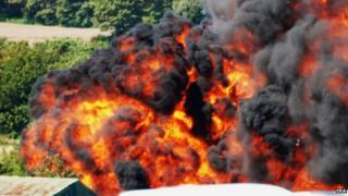 Shoreham Airshow plane explosion