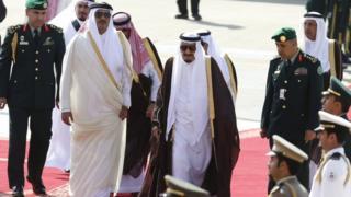 سعودی اور قطری سربراہان