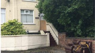 House in Larne where man was attacked sledgehammers