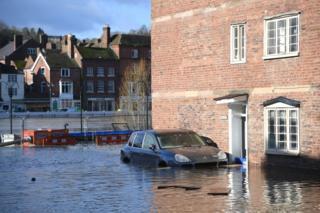 Flooding in Bewdley