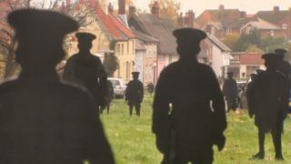 Soldier silhouettes in Haughley