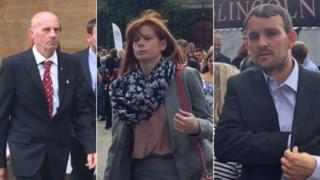 Left to right: Stuart Holmes, Michaela Tasker and Martyn Tasker