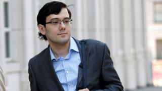 Martin Shkreli arrives for his trial at US Federal Court in Brooklyn