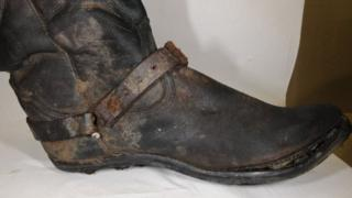 Boot found with skeleton