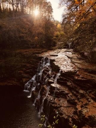 Falls of Clyde in New Lanark