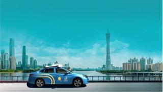 WeRide's robotaxi in Guangzhou