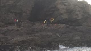 Cliff fall incident at Newtonhill