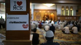 Mosque after Manchester bombing