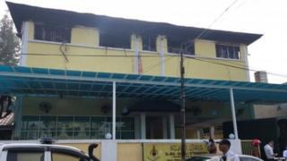 आग स्कूल के ऊपरी मंजिल पर लगी