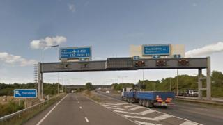 M1 near East Midlands Airport