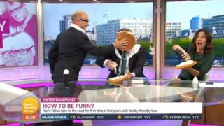 Harry Hill, Piers Morgan and Susanna Reid