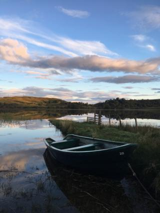 Sunrise over Loch Tromlee and Ben Cruachan in Argyll, Scotland