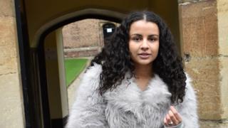 Anoushka looking round Cambridge University