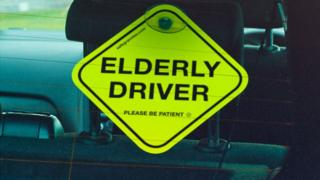 Elderly Driver plate by SafeGrannies