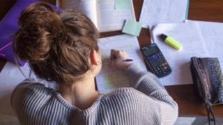 Pupil doing homework