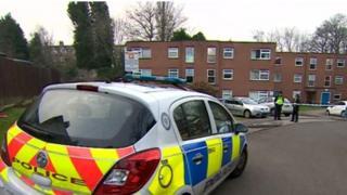 Police scene at Frensham Way, Harborne
