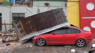 Daños en Guatelama tras el sismo