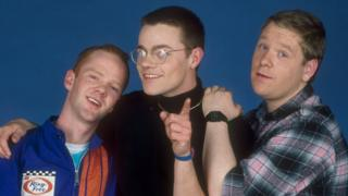 Bronski Beat's Jimmy Somerville, Larry Steinbachek and Steve Bronski