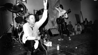 Sex Pistols on stage at Leeds Polytechnic