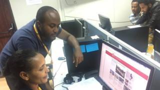 BBC journalists dey look di new website