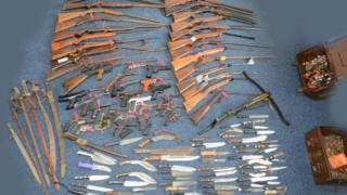 Weapons handed in during amnesty