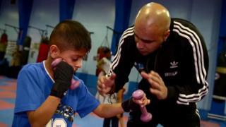 Marcellus Baz teaches boxing