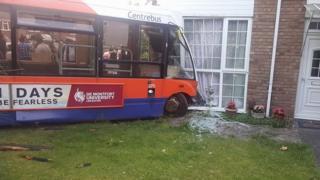 Bus crash scene