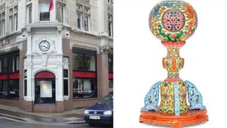 Christie's in King Street and the 19th Century hat stand