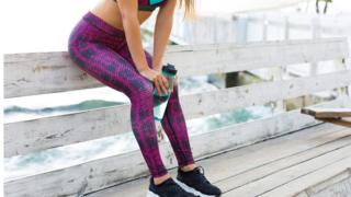 woman in gym gear