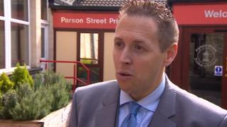 Head teacher Jamie Barry of Parson Street Primary School