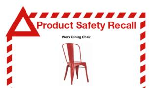 Recall notice from Fantastic Furniture