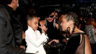 Alicia Keys with Beyonce and Blue Ivy Carter