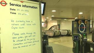 TfL notice about Oyster card readers