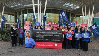 Northern Ireland It is the first time members of the Royal College of Nursing in NI have voted for strike action