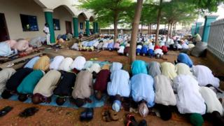 in_pictures Muslims in Nigeria perform Eid prayer after the lockdown following the global outbreak of coronavirus disease (COVID-19) in Nasarawa, Nigeria May 24, 2020.