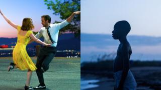 Fotogramas de La La Land y Moonlight