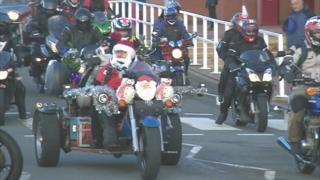 Hundreds of bikers in Stoke-on-Trent Christmas toy run