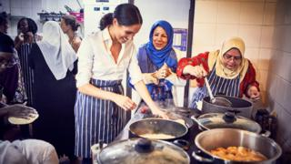 The Duchess of Sussex at the Hubb Community Kitchen