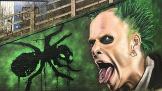 Mural tribute to Keith Flint