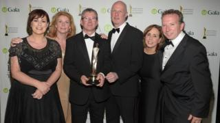 Winning BBC Newsline team